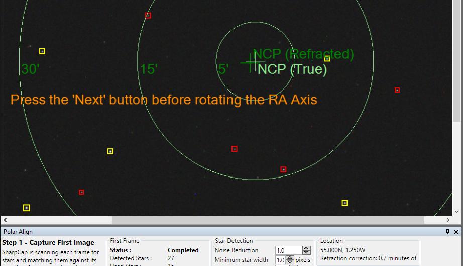 polar alignment sharpcap lunar planetary solar and deep sky rh sharpcap co uk British Army RA4 Sign